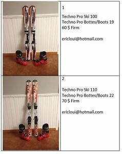 Ski et bottes / Ski and boots 100 with 19 and 110 with 22