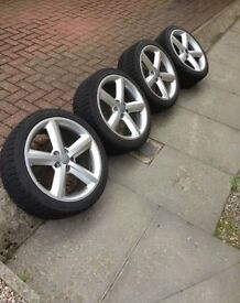"Audi S-Line 18"" Alloy Wheels with Winter Tyres"