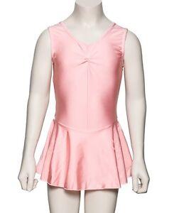 Girls-Pink-Lycra-Ballet-Dance-Outfit-Leotard-With-Skirt-Dress-KDR005-By-Katz