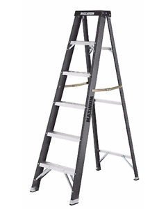 MAXIMUM Fibreglass Grade 1 Step Ladder, 6-ft,brand new