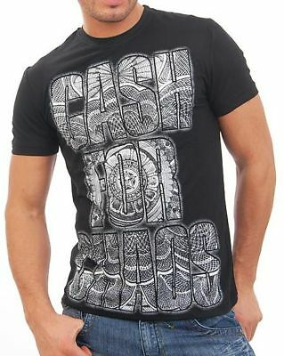Wasabi Wear T Shirt Hemd kurzarm Print in Black Clubwear Mode Schwarz S Schwarz, Wasabi