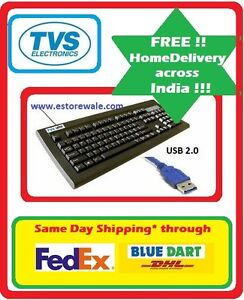 TVS / TVSE Bharat Gold USB Mechanical Keyboard Black  USB Keyboard DOW#9 available at Ebay for Rs.1879