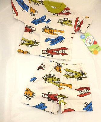 Saras Prints Pajamas Boys Size 18 Months Airplanes 2 Piece Boutique NEW - Boutique Pajamas