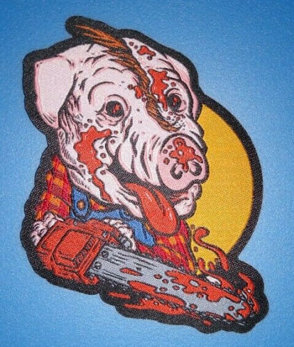 PATCH - Farmer Vincent - HORROR -  Woven,iron on - Motel Hell