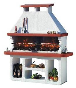 Masonry / Stone Charcoal BBQ Grill, Made in Italy