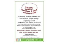 Jewellery and greeting cards making group (all types, colour, shape and sizes)