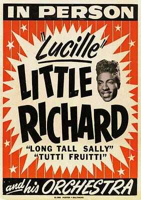AD66 Vintage 1950's Little Richard Music Concert Poster A4 Re-Print
