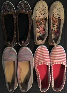 LOT 4 Pairs of Slip On Shoes Size 9