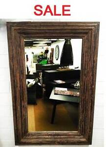 Mirror XL Wall Hanging / Free Standing , Rustic Brown - 1850x1150 Berwick Casey Area Preview