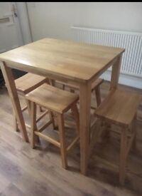 High Table & 4 Stools - Oadby (see photos)
