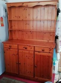 Pine Welsh Dresser in very good condition. Sold