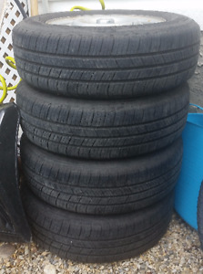 175/70R13 Michelin Defender Tires and Rims