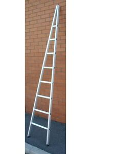 1.8M  6` SINGLE ALUMINIUM WINDOW CLEANERS / CLEANING LADDER WITH GLAZING BLOCK