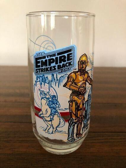 🔥1980 Coca Cola Burger King Star Wars The Empire Strikes Back R2-D2 C3PO Glass