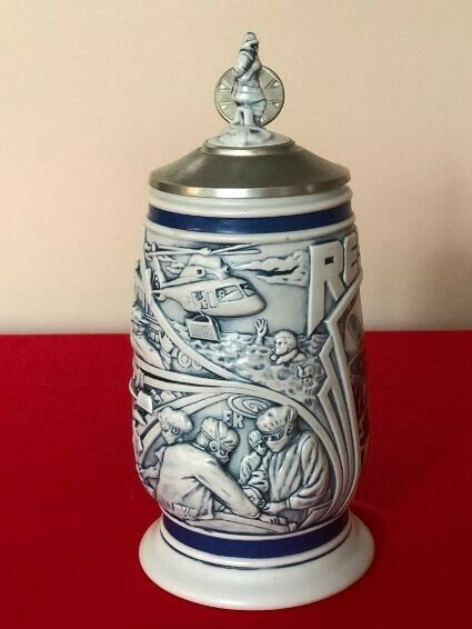 Avon Tribute to Rescue Workers Stein Handcrafted in Brazil 1997