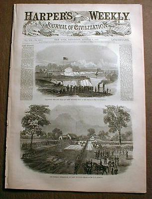 Complete Original 1861-1865 illustrated Civil War newspaper HARPER'S WEEKLY