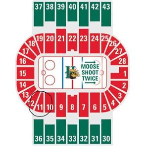 PAIR OF MOOSEHEADS TICKETS - LOWER BOWL - SAT. DEC 15