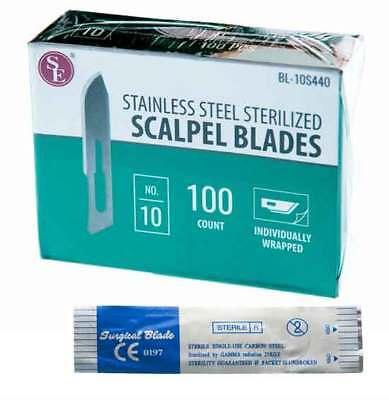 Scalpel Blades 10 100pc Sterilized Stainless Steel Blades