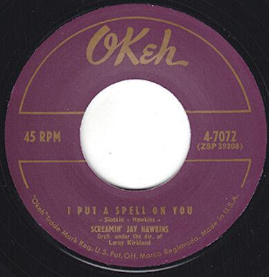 "SCREAMING JAY HAWKINS I Put A Spell On You OKEH Re. 7""1956 Voodoo Beat R&B HEAR"