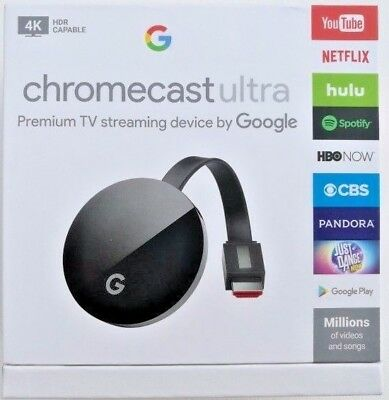 Google Chromecast Ultra 4K Digital Media Streamer Brand New Sealed