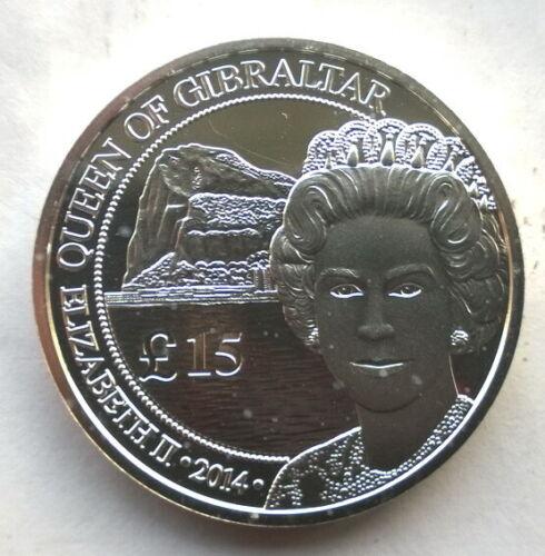 Gibraltar 2014 Queen 15 Pounds 1oz Silver Coin,BU Type