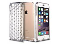 iPhone 6/6s JOB LOT Shockproof iPhone 6 / 6S Case, Clear Thin Transparent Soft Gel TPU Honeycomb