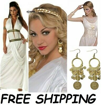 Egyptian Roman Goddess Gypsy Gold coins Earrings Halloween costumes accessories