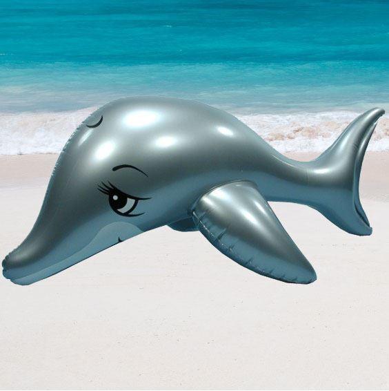 Orig.Wehncke Delphin 110cm, Aufblastier Reittier Delfin Schwimmtier Schwimmhilfe