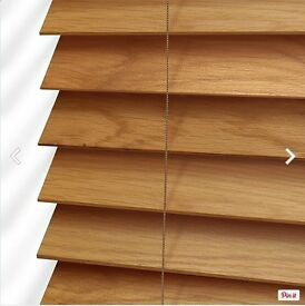 Wooden blinds (oak finish) - BRAND NEW £30