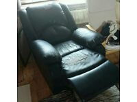 Black Leather recliner la-z boy style