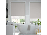 2 x DOUBLE ROLLER BLACK OUT / VOILE BLINDS