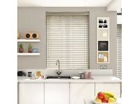 Venetian Blind x 3: Faux Wood blind from quality blind retailer