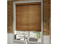 Burnished Oak Wooden Blinds