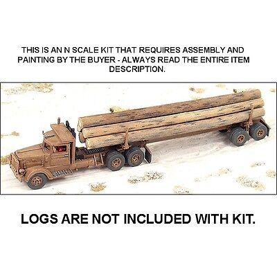 PB 344 LOGGING TRUCK & TRAILER KIT - N SCALE KIT - GHQ 56008 for sale  Commerce City