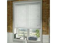 White wood Venetian blinds £25 each brand new