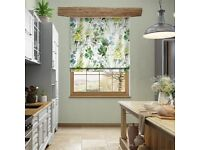 Brand new Blinds2Go Roman Blind in Foxglove Velvet Evergreen