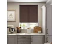 COLOURS TAKU CORDED DARK BROWN ROLLER BLIND (L)160CM (W)90CM brand new pieces missing
