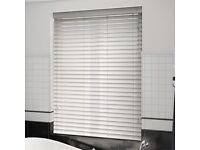 Wooden Blinds in White with 50mm Slats. Brand New