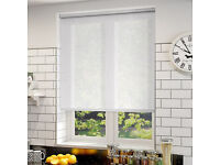 White Voile Roller Blind (New and boxed)