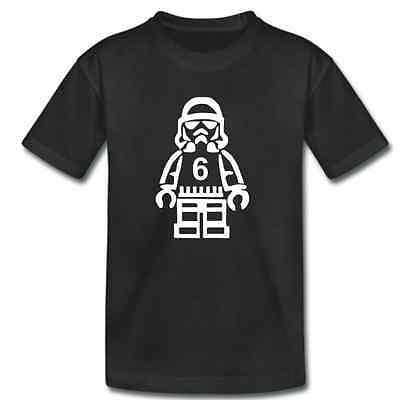 Kids Star Wars BIRTHDAY TShirt - Stormtrooper With Age  - Childrens Boys Girls