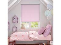 pink polka dot black out roller blind £20 ONO