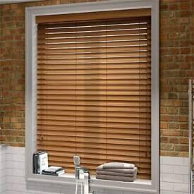 New Premier Bronzed Oak Wooden Venetian blinds x2