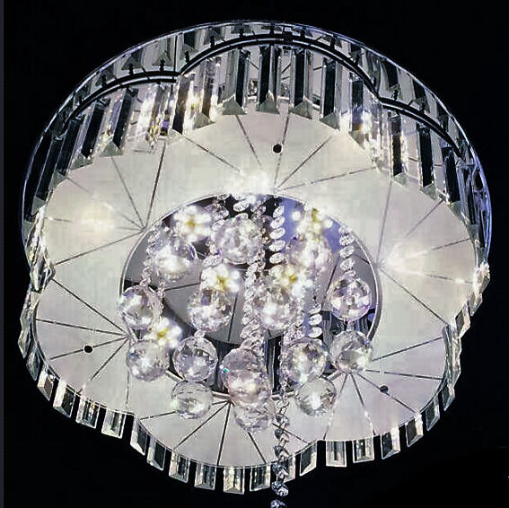 Modern GLASS & CRYSTAL LED CHANDELIER Ceiling Light-music mp3 ...