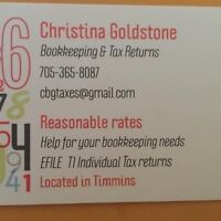Bookkeeping! Income Tax returns E-filed!