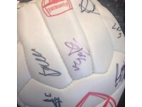 Arsenal team signed football