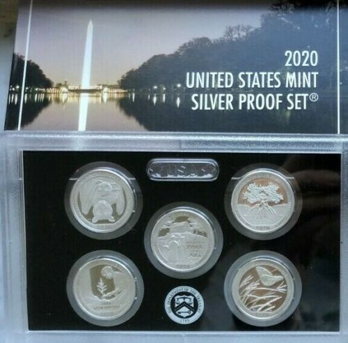 2020  AMERICA THE BEAUTIFUL SILVER Quarter Set  99.9% silver  NO BOX OR  COA