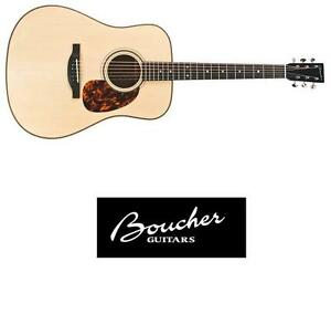 NEW BOUCHER ACOUSTIC GUITAR - 124564739 - BLUEGRASS GOOSE SOUTH AMERICAN MAHOGANY DREADNOUGHT