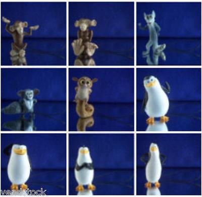 Penguins Of Madagascar Party Supplies (PENGUINS OF MADAGASCAR MINI FIGURE DANGLER PHONE CHARM ORNAMENTS YOU PICK)