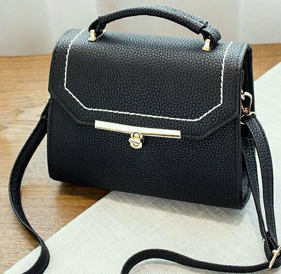 New Ladies Textured Leather Stitching Crossbody bag