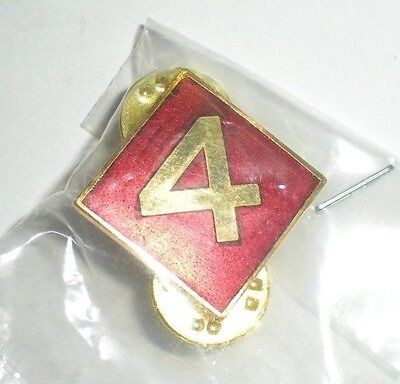 USMC 4TH MARINE DIVISION PIN - CURRENT PRODUCTION - GREAT FOR CAPS/JACKETS!